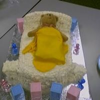 Baby Shower 2007 BC bassinette, double chocolate fudge cake-