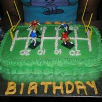 Football Cake Spicecake with Creamcheese Frosting
