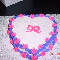 My Heart Cake I was practicing the other day with my heart shape pans......The icing is buttercream