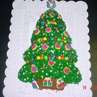 Christmas Tree Cake This is my first cake I actually made for my neighbor, she took it to her office party....