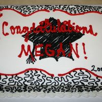 2008 Graduation 11x15 chocolate fudge graduation cake