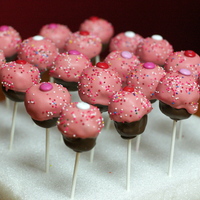 Cupcake Pops! This was a fun project for school valentine's day treats that my kids could help on.