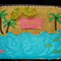 Phpb7Qoy1Pm.jpg Beach theme birthday, BC with cookie sand and fondant accents