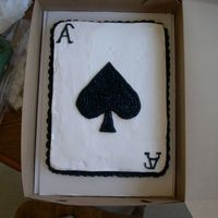 Ace Of Spades Cake French Vanilla w/ BC icing.