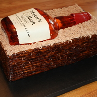 Maker's Mark Cake  This cake was for my brother-in-law's 40th surprise birthday party. The only things that aren't edible are the label (I don'...
