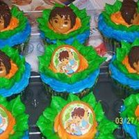 Go! Diego Go! Cupcakes done for a friend at work. Ordered the rings off ebay for $2.00