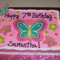 Butterflies!! Butterflies to match the invitation and napkins for this little girls party!