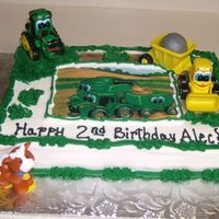 Johnny John Deere Edible image and customers figures.