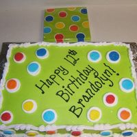 Polka Dot To Match Napkins Lady brought in the party napkins she wanted the cake to match