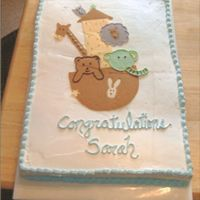 Noah's Arch   The girl I did this for gave me a copy of what her baby's room was going to be! The chocolate mold cracked but they still loved it.
