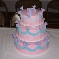 Wedding Cake   she wanted me to make this out of all her wedding colors. flowers are MF everything else buttercream.