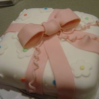 Fondant Gift Cake Same one we all did!