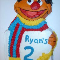 Ernie Ernie cake for my sesame street fan. Used old Wilton pan from ebay.