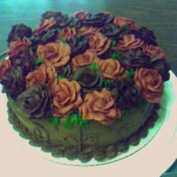Seeing The World Thru Rose Colored Glasses Bridesmaids wore chocolate dresses and carried red roses, so we decorated the cake accordingly. Not the best pic - cellphone. Got idea from...