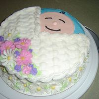 Baby In A Baby Carriage Copied from class II book for friend's shower. Royal icing head, rest is buttercream.