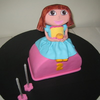 Dora Birthday Cake - Second Birthday I made this Dora cake for my little girl's 2nd birthday. Chocolate mud cake with fondant and edible figurine. The mouth should be less...