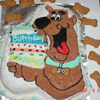 Scooby Doo Did this for a little boys birthday all done in bc. Bones are sugar cookies.