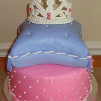 Tiara Pillow Cake This was my first attempt at a gumpaste tiara, quilting pattern & pillow cake. Was so nervous but was pleased with the outcome. Wish...
