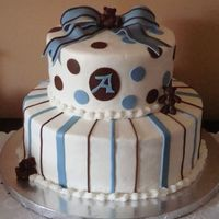 Baby Andrew This cake was inspired by a great one here on CC done by LoriRice. Hers is much better than mine, but my cousin loved it & I had to try...