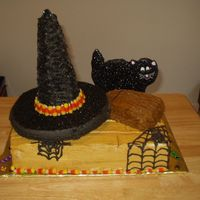 Witches Brew I made this cake for my sister's halloween birthday. Everything is edible!
