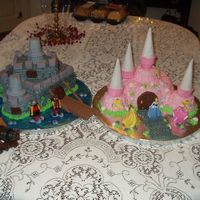 Knights And Princesses   This was done for a boy and a girl joint birthday party.