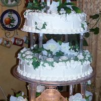 Waterfountain Cake This cake is similar to one I put on here a year or so ago- the bride wanted white and green only...A lot of work! she didn't want a...