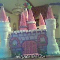 Princess Castle Cake THis pic is not good, I took it with my rinky dink webcam and could not even get the pic straight. My first attempt at a Castle cake....