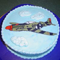 Mustang B-Day A WWII Mustang cake for my husband's b-day.