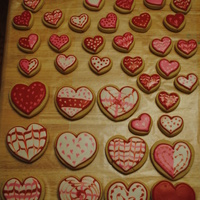 Valentines Day Cookies I made these cookies for my 5yr old's valentines day party. It was my first time making with the pourable frosting and I think they&#...