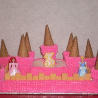 Pink Birthday Castle Cake I made this cake for my daughter's 3rd birthday. It was my first attempt at making cakes ever!