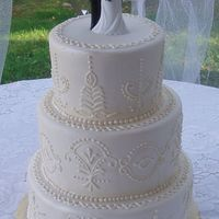 White Henna Design From Bride's Dress This is Pink Champagne Cake w/ Champagne Mousse Filling, Iced in Buttercream & covered in Fondant. This is based off the bride's...