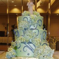Green & Navy Blue W/ Luster  This was based on a cake from Fleur de Lisa in Santa Rosa, CA. The bride & groom brought me a picture from bride.com of the original...
