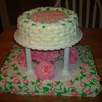 Basketweave Birthday Cake  I was asked to do a cake for a lady and this was all that I could come up with, I've always wanted to try the basketweave, I enjoyed...