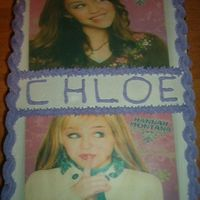 Hannah Montana Birthday Cake My sons preschool teacher wanted a Hannah Montana birthday cake for her daughters birthday so I did these edible images and put her name...