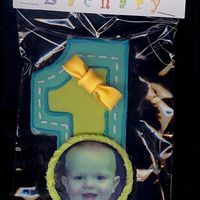 Zach's 1St Birthday Cookie Toba's Shortbread cookie, MMFicing,Royal icing trim, NFSC with Edible Image