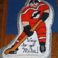 Our Cincinnati Amateur Hockey Party Cake 2006 I love doing this cake because it is small and most people around here don't see too many hockey themed anything.
