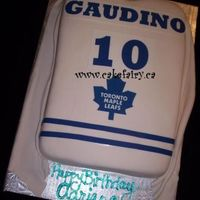 Leafs Jersey she turned 10 and she knew exactly how she wanted this cake..she loved it...