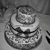 Wedding Cake With Scrolls