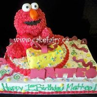 3D Elmo this is my second 3D elmo cake...all cake...she LOVED it!
