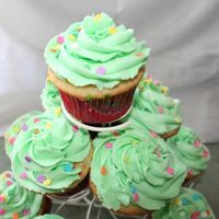 Bbq Cupcakes  Cupcakes for a BBQ. Thrown together at the last minuet after my cake fell apart! Funfettie mix with buttercream frosting and sprinkles. I...