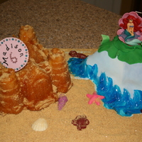 The Little Mermaid And Sand Castle. This was made a friend's little girl.