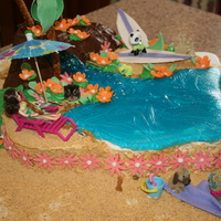 Polly Pocket Pool Party This was made for a friend's little girl who had a Polly Pocket Pool Party.