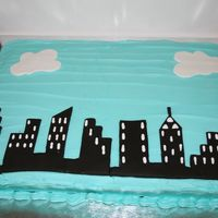 Ny Skyline   NYC Skyline made with help from a template located through the forums. Birthday cake for friend in real estate in NY.