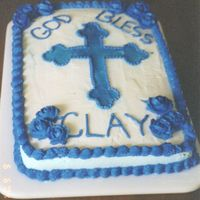 Baptism Cake This was for my son's baptism