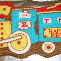 Train Cake THIS WAS MY SON'S SECOND BIRTHDAY CAKE.