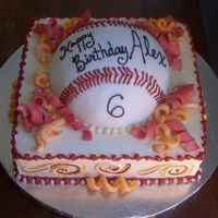 Fondant Baseball Cake On Bc
