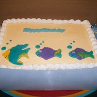 Fish, Buttercream And Rolled Buttercream Fish for a friends son