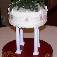 Chinese Wedding This was by far the hardest cake I've made so far. Turned out pretty good but didn't like the results of the painted gold luster...