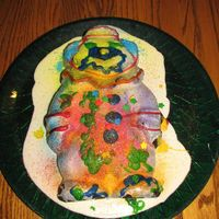 Mr. Clown My 4 and 6 year old boys had a great time decorating this clown-shaped chocolate cake. We poured on cheescake icing. Then the kids used the...