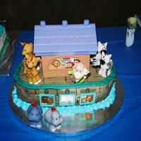 Noah's Ark This was done with a cake kit from Fisher Price.The mother saw it on Ebay and ordered it.